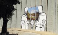 unauthorised banksy, street art un privateingentum