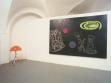 Pohled do instalace výstavy Ivana Voseckého Warning!, 26. 2.–24. 3. 2002