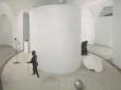 Pohled do instalace výstavy Eriky Bornové a Ivany Lomové Pod dekou, 15. 8.–10. 9. 2000