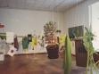 Balázs Beöthy, Green Objects (objekty zapůjčené umělci a historiky pro účely vystavení), 2002, instalace, foto: József Rosta, Ludwig Museum