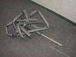 Součást instalace ateliérové výstavy, léto 2002, foto: Jan Mahr