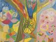 Václav Stratil, Žlutý Kristus, 2003, barevné tužky na papíře, foto: Jan Mahr