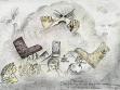 Musa Shaciri, Kresby, 2003, černá tužka, barevné tužky, papír