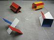 Matěj Smetana: Vlajky, 2002, 4 dřevěné objekty