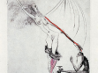 Salvador Dalí, La Venus aux Fourrures (Venuše v kožichu), 1969, z cyklu dvaceti suchých jehel na papíře, foto: Neue Galerie Graz