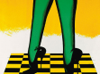 Allen Jones, A New Perspective on Floors (Nová pespektiva podlahy), 1966, barevná litografie, foto: Neue Galerie Graz