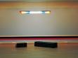 Pohled do instalace Stock Zero (Opera) kurátora Nicolase Bouriauda. Boris Achour, Tři kůzlata (Les trois chevreaux), 2004, plastiky, papírmašé na dřevě, zrcadlo, kresby na dřevě, repro: MNAC
