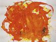 Věra Vampolová, Salsa, 1999, malba tancem na papíře, 200 x 200 cm, repro: Divus