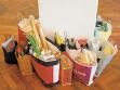 Aneta Mona Chisa, Lucia Tkáčová, Shopping, 2003, papírové tašky, různé materiály, foto: autorky