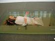 Florence Obrecht, Ofélie (Ophelia), 2005, vosk, polystyren