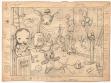 Mark Ryden, Kouzelný cirkus (The Magic Circus), 2002, kresba uhlem na papíře, repro: Mark Ryden