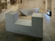 Evžen Šimera, Překážky, 2002, dřevěné objekty vytvořené podle děl Sol LeWitta a Roberta Smithsona a videozáznam z jejich využití coby skateboardových překážek, repro: Martin Polák