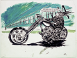 Raymond Pettibon, Untitled (Runs with A), 2004, ink drawing on paper. Repro: Courtesy Regen Projects, Los Angeles.