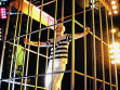 Photo of the opening of the Pinchuk Art Center by the author. Dancers in cages represent artists. Repro: Alice Nikitinová.