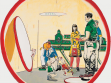Neo Rauch, Rule, 2000, oil on paper,  diameter 300 cm. Kunstmuseum Wolfsburg. ©VG Bild-Kunst, Bonn, 2007.  Courtesy Galerie EIGEN + ART Leipzig/Berlin+ David Zwirner, New York  (Photo Uwe Walter)