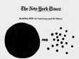 New York Times, 2003.  Actual headline from The New York Times that inspired the artist for later interactive web pages