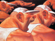 Peter Howson. Game Boys, Variation, oil on canvas, 1991-2