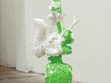Squirrel, 2008, plush toys, plaster, acrylic, 120 cm