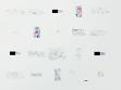 Ceal Floyer, Works on Paper, 2009 Installationsansicht in den KW Institute for Contemporary Art, Berlin  Kugelschreiber, Stift, Bleistift auf Papier, Maße variabel Foto: Uwe Walter  Courtesy Esther Schipper, Berlin