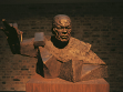 bust of Collin Powell, part of installation