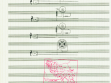 Factory Rituals – Score, 1989, photocopy and stamps on blank sheet music, 30x21 cm, series of 8 sheets