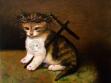 Kitten of God, 2004-5, olej na plátně, 36 x 41 cm