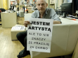 """OFSW (Citizen Forum for Contemporary Arts), Zbigniew Libera, """"I'm an artist, but this doesn't mean I work for free,"""" 2012"""