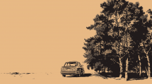 Pavel Reisenauer - Landschaft mit BMW