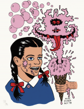 Mike Diana - Pink Bubblegum Icecream Ghost