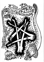 Mike Diana - Pentagram Legs